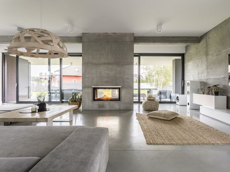 Smart home with fireplace